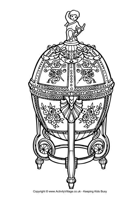 faberge egg coloring page faberge egg colouring page