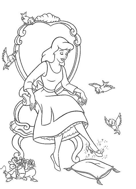 cinderella dog coloring pages cinderella coloring page disney coloring page picgifs com