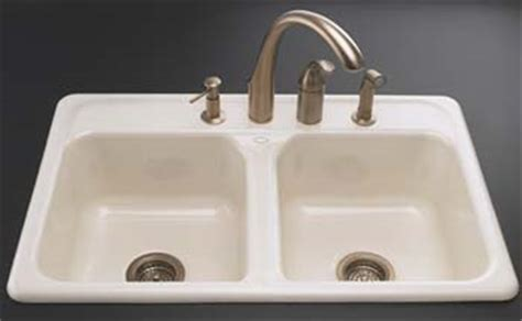 4 hole kitchen sink faucet kohler k 5817 4 96 delafield self rimming kitchen sink