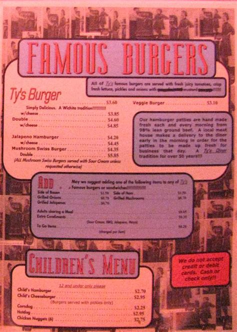 1950s dinner menu 1950s diner menus image search results