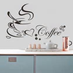Free Wall Stickers Free Shipping Coffee Cup Vinyl Quote Removable Kitchen