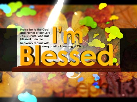 I Am Blessed Wallpaper