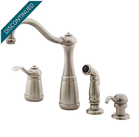 price pfister gt26 3nss marielle stainless steel single rustic pewter marielle 1 handle kitchen faucet gt26 4nee
