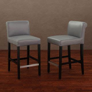 Cosmopolitan Black Leather Counter Stools by Cosmopolitan Charcoal Leather Counter Stool Set Of 2