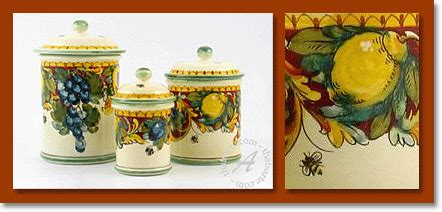 Italian Canisters Kitchen by Tuscan Canisters The Best Tuscan Kitchen Canisters From Italy