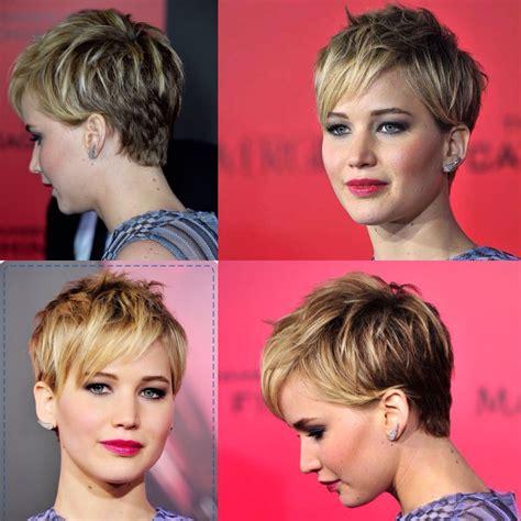 recent tv ads featuring asymmetrical female hairstyles jennifer lawrence pixie cut hair pinterest jennifer