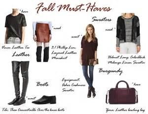 my fall must list need want