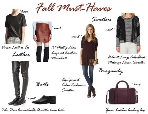 Top 10 Fashion Must Haves Of 2007 by My Fall Must List Need Want
