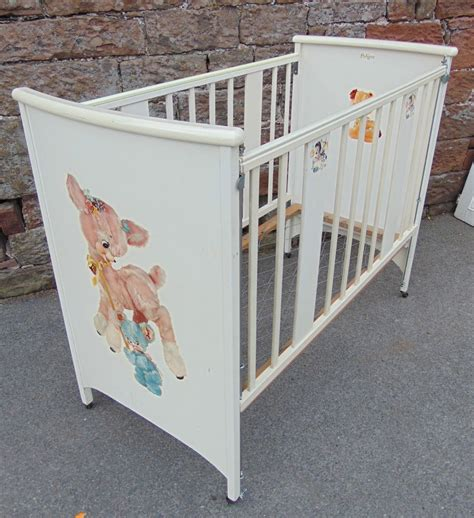 vintage pedigree 1960s wooden wood baby children s cot