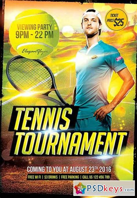 Tennis Tournament Flyer Psd Template Facebook Cover 187 Free Download Photoshop Vector Stock Tournament Flyer Template