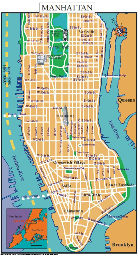 a map of manhattan new york manhattan tourist map pdf images