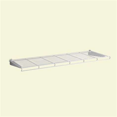 Ventilated Wire Shelf Kit Closetmaid Shelf And Rod 6 Ft X 12 In Ventilated Wire