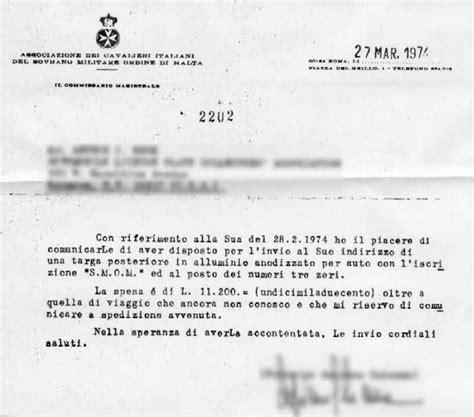 Official Guarantee Letter Targa Smom Di Esempio