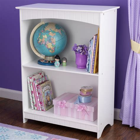 kidkraft nantucket white 2 shelf bookcase nantucket two shelf bookcase