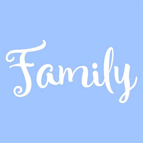 pattern out of words 5 quot family stencil stencils template templates craft word