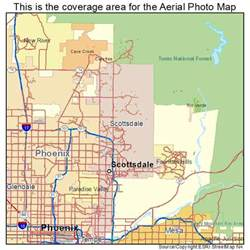 aerial photography map of scottsdale az arizona