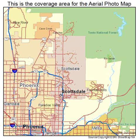 us map scottsdale arizona aerial photography map of scottsdale az arizona