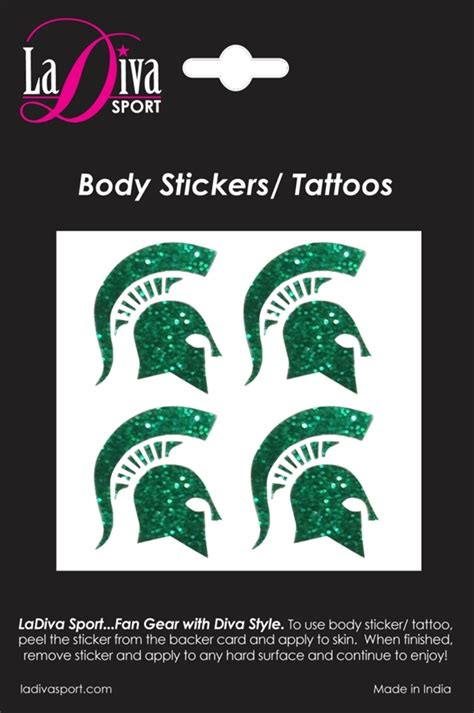 tattoo prices michigan msu spartan helmet glitter tattoo body sticker