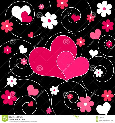 imagenes de corazones y rosas rojas corazones y flores ilustraci 243 n del vector ilustraci 243 n de