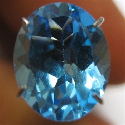 Permata Blue Topaz Blue Oval Besar 91 Brkh Losestone batu permata topaz swiss blue oval 2 91 carat