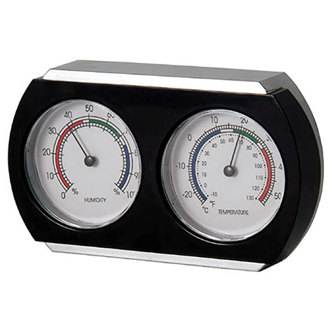 analog wall clock with humidity gage temperature gage cmhg gage indoor thermometer and hygrometer rona