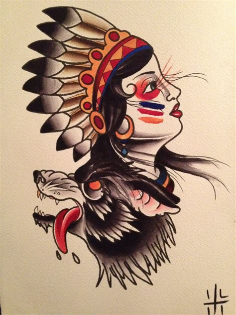 flash tattoo use want this but with a seminole woman they often used dogs