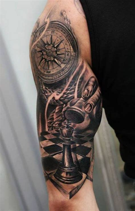 compass tattoo piece tattoo chess piece compass arm http tattootodesign