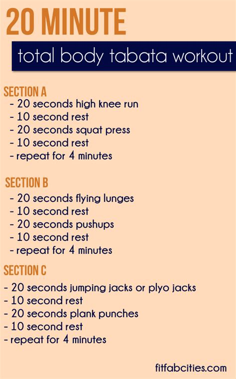 home workout plans vmfitness tabata quickies