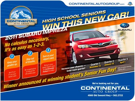 Automobile Giveaways - seniors enter to win a new car steller secondary school
