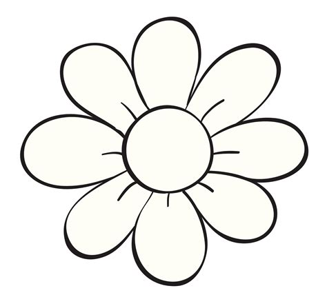 imagenes de flores faciles para colorear flor de 5 petalos para colorear imagui