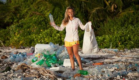 Swimsuit Made From Plastic Bottles by Cleaning Up Trash Island One S Waste Is Another