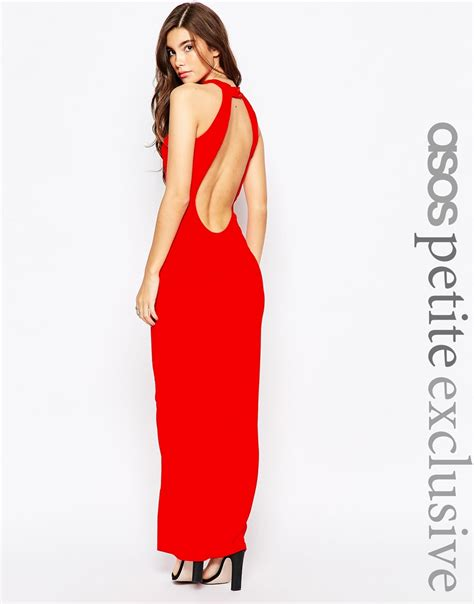 Maxi Wilmena asos 90s high neck maxi dress with low back black in