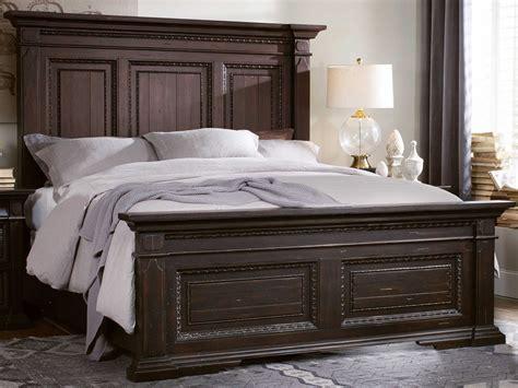 king size panel bed hooker furniture treviso rich dark macchiato king size