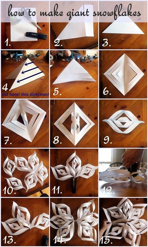 giant paper snowflakes step  step photo