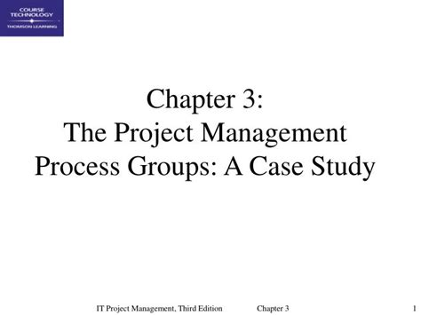 chp 3 the business of product management ppt chapter 3 the project management process groups a