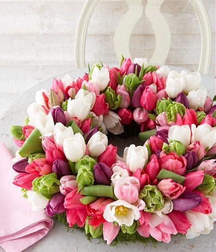 tulpen im glas dekorieren bl 252 tenkranz aus tulpen bild 5 living at home