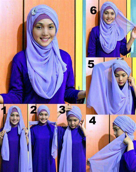 tutorial hijab pasmina licin simple hendrayati hendrayati