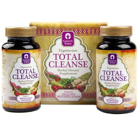 Genesis Detox by Genesis Today Total Cleanse 60 Caps Each Parts 1 And 2