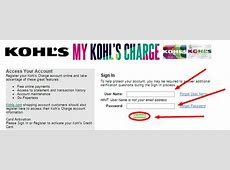 Kohl's Charge Card Login Payment Kohl's Charge Card Login