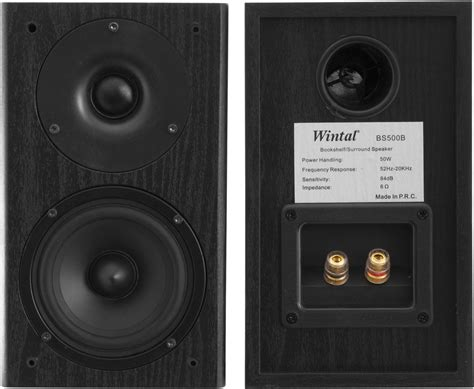 classic series bookshelf speakers black wintal