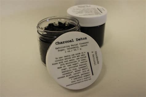 Acne Sugar Detox by Charcoal Detox Sugar Scrub Cleanser For Acne Prone Skin