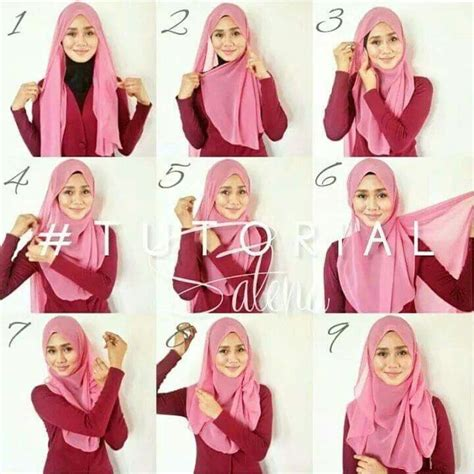 tutorial hijab pashmina hitam 17 best images about hijab trendz on pinterest turban