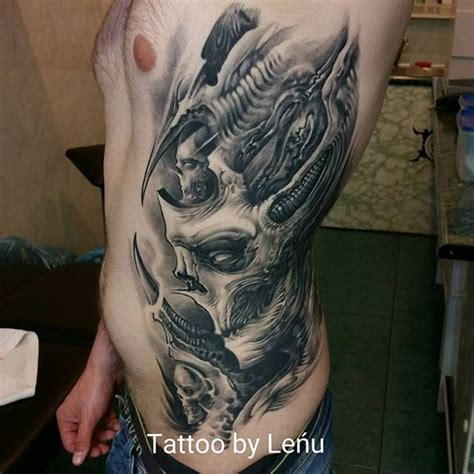 inkside tattoo black ink side of skeleton tattooimages biz