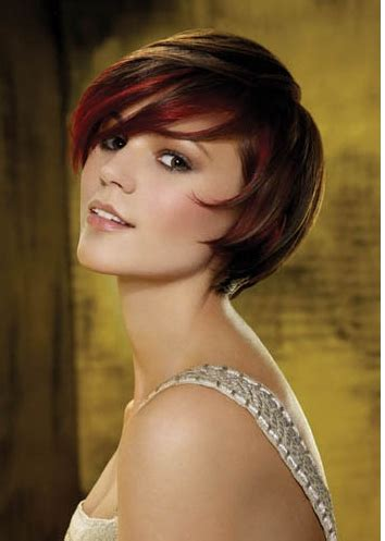hairstyles brunette with red highlights brunette hairstyles with red highlights