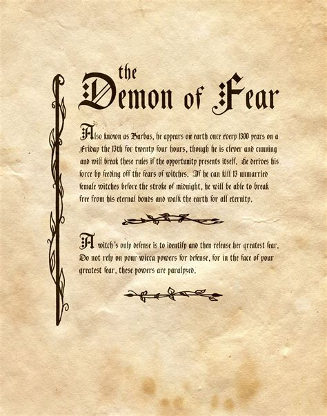 book of demons names and pictures quot the of fear quot charmed book of shadows quot the