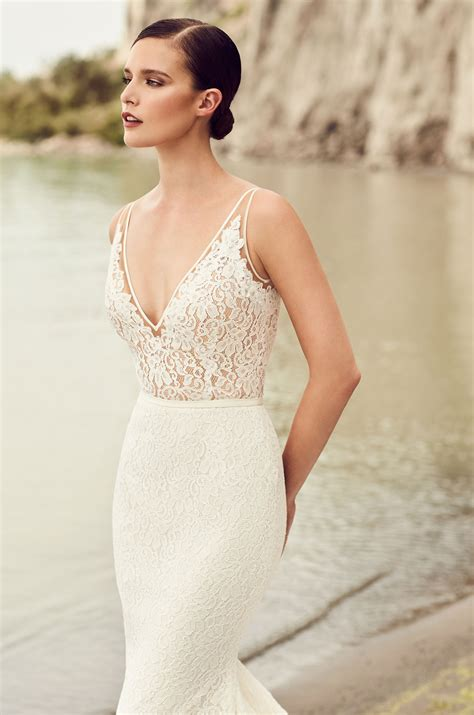 Wedding Dresses V Neck by V Neck Wedding Dress Style 2100 Mikaella Bridal