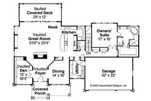 Craftsman Homes Floor Plans by Craftsman House Plans Pacifica 30 683 Associated Designs