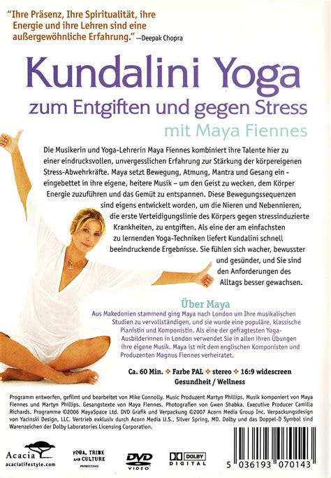 Dvd Kundalini To Detox And Destress by Kundalini To Detox And Destress Fiennes Dvd