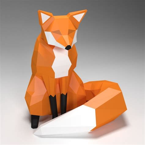 Low Poly 3d Models 3d model fox low poly style vr ar low poly max fbx