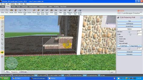 home design 3d outdoor and garden tutorial uvision 3d landscape creator video tutorial 2 espa 241 ol
